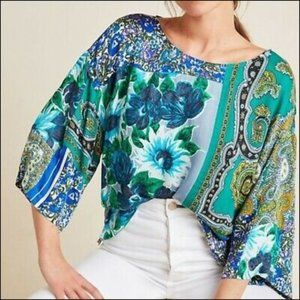 TINY paisley and floral print Ellery flowy top